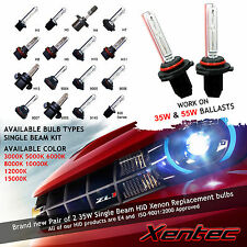 Top Quality Xentec 2 BULBS XENON HID CONVERSION H1 H3 H4 H7 D2S 9006 8000K