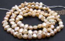 "SALE small 4-5mm Natural Pink Freshwater BAROQUE Pearl Loose Beads 14""-los466"