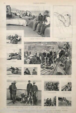 WASHINGTON to ALASKA by Steamship GOLD History Art ANTIQUE 1897 MATTED Picture