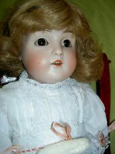 "Very pretty~ JDK Kestner #154 German antique bisque 17"" doll with nice kid body"