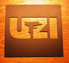 UZI Machine Gun Decorative Sign Plaque Art  for Man Cave Real Metal Decor NICE!