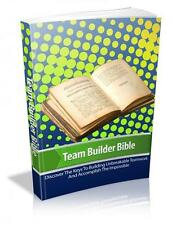 Team Builders Bible Ebook On CD $5.95 Plus Resale Rights Free Shipping