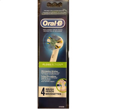 4 ORAL-B Floss Action TRIUMPH Replacement Toothbrush Tooth Brush Heads NEW Pack