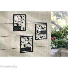 Country Live Laugh Love Wall Tealight Candle Holder Sconce Set of 3 Accent Decor
