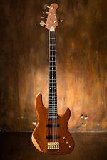 Wolf 5 String Jazz Bass (Solid Bubinga Top) w/ Tesla Pickup  AIO Special Edition