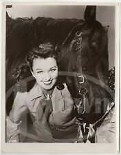 COWGIRL WESTERN MOVIE ACTRESS & HORSE VINTAGE UNIDENTIFIED MOVIE PHOTO
