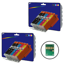10 non-OEM C550/1 Ink Cartridges for Canon MG5450 MG5550 MG5650 MG6350