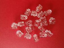 LEGO  20 transp. 1er Bausteine / Konverter mit 1 Noppe / Loch / Knopf 4070  NEU