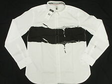 $79 NWT NEW Mens Marc Ecko Button Down Shirt In The Fray Woven White Size S L266