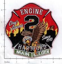 Connecticut - Hartford Engine 2 CT Fire Dept Patch V2 - Clay Arsenal - NEW STYLE