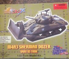 21st century Toys M4A3 Sherman Dozer Tank, 1:32 Model Kit Retired NIB