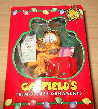 Cartoon Garfield Trim A Tree Christmas Ornament The List (1996) Boxed