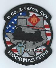 "B CO 2-149TH AVN OEF 13-14 ""HOOKMASTERS"" #2 patch"