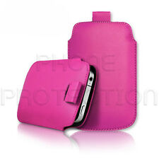 LEATHER PULL TAB CASE COVER POUCH SLEEVE FOR VARIOUS MOBILE HANDSETS