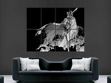 SAMURAI SKULL WARRIOR SWORD ART WALL LARGE IMAGE GIANT POSTER ""