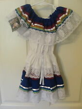 NWT NEW Authentic MEXICAN Girls Dress 2 2T Toddler Child Costume Lace