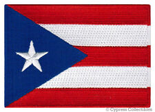 PUERTO RICO FLAG embroidered iron-on PATCH RICAN EMBLEM applique NEW
