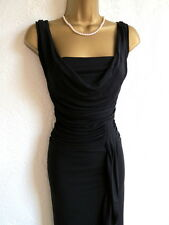 Coast black cowl ruched party evening dress size 18