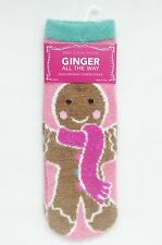 Bath & Body Works GINGER ALL THE WAY Gingerbread Girl Shea Infused Lounge Socks