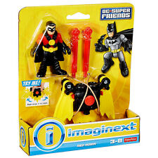 FISHER PRICE IMAGINEXT_DC Super Friends Collection_RED ROBIN figure & Glider_MIP