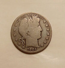 1904-S Barber Half Dollar - Better Date - Nice Looking Coin
