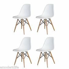 set of 4 . DSW mid century modern dining side chair