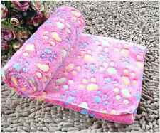 1PC Pet Paw Print Cat Dog Fleece Soft Blanket Cushion Keep Your Pet Feel Warm CA
