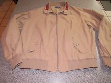 MENS VINTAGE GANT RUGGER KHAKI LIGHTWEIGHT JACKET SIZE XL GREAT SHAPE