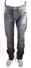 X5-47 Wrangler 2RRB Herren Jeans W30 L34 grau Tapered Regular Button Fly Ripped