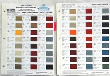 1990 FORD CAR AND TRUCK DUPONT AND SHERWIN WILLIAMS COLOR PAINT CHIP CHARTS