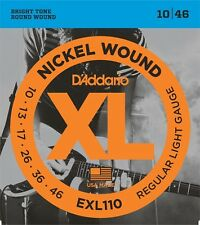 D'Addario EXL110 Electric Guitar Strings 10-46. Professional Quality Strings !!!