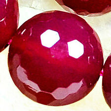"""12mm Faceted Pink Agate Round Beads 16"""""""