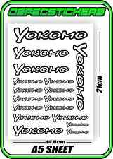 YOKOMO RC STICKER SHEET A5 R/C CAR BD6 BD7 BD8 VOLKER DRIFT YZ-4 YD-2 BD9 BLACK