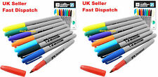16 x BRANDED PERMANENT MARKER PENS ASSORTED COLOURS FINE POINT TIP Sharpie Mixed