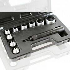 10 Pc Heavy Duty Hollow Punch Kit W/Case Tool Set Gasket Leather Rubber Holes