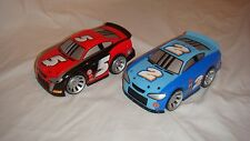 2-Fisher Price Shake N Go Race car Red , Race Car Blue