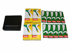 ROLLING MACHINE TIN, 10 SWAN CIGARETTE PAPERS, 4 PACKS EXTRA SLIM SWAN FILTERS