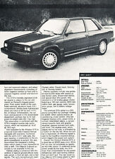 1987 Renault Alliance GTA Original Car Review Print Article J501