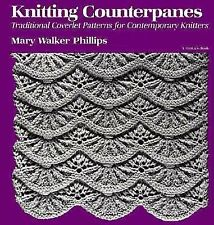 Knitting Counterpanes Craft Book Coverlet Patterns Mary Walker Phillips Free Shp