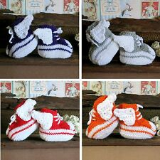 Knit Baby Booties Angel Wings Hi Tops Toddler Shoes Baby Shower Gift