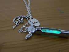 Magical Glow Fairy Dust Lariat Silver Necklace. Glow In The Dark. Angel. Kitsh.