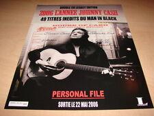 JOHNNY CAsH - PERSONAL FILE!!!!!!!!! PUBLICITE / ADVERT