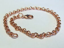 "Solid COPPER 9-1/2"" ROLO CHAIN ANKLET - 4MM LINKS"
