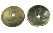 Lot de 10 Calottes pleines / Coupelles / Caps couleur bronze 13 mm