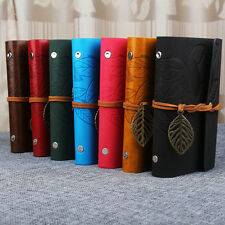 Diary Notebook Sketchbook Leaf Travel Leather Paper Journal Book Sketchbook