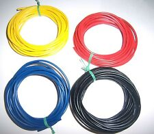 20 Ft 18 Gauge AWG Ga Black Red Yellow Blue Car Alarm Primary Wire 12V Combo New