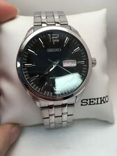 New Seiko SNKN47 Recraft Automatic Stainless Steel Black Dial Men's Watch-R5