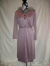 On Sale Vintage Late 1970's Short Hooded Robe in Lavender Hood Edged with Marabo
