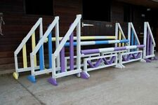 Quality horse show jumps set of3 complete with KEYHOLE TRACKS