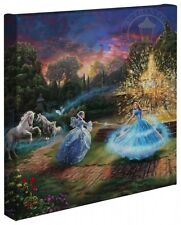 "CINDERELLA Wishes Granted - Thomas Kinkade 14"" x 14"" Gallery Wrap Canvas"